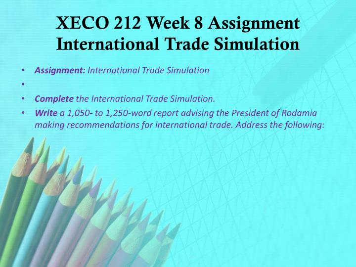international trade concepts simulation International trade concept, simulation free essays, term papers and book reports thousands of papers to select from all free.
