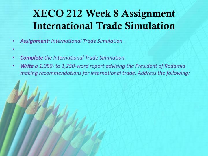 international trade simulation assignment