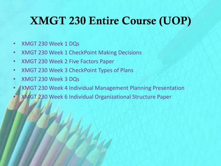 xmgt 230 check point types of plans Mgt 521 week 2 knowledge check rather it is a starting point for building your knowledge and skills types of plans.