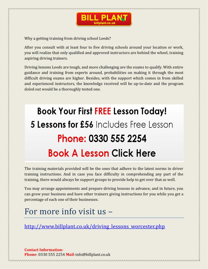 Why a getting training from driving school Leeds?