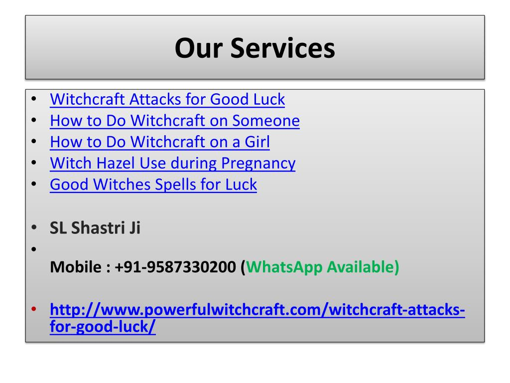 PPT - Witchcraft Attacks for Good Luck--- 91-9587330200 PowerPoint