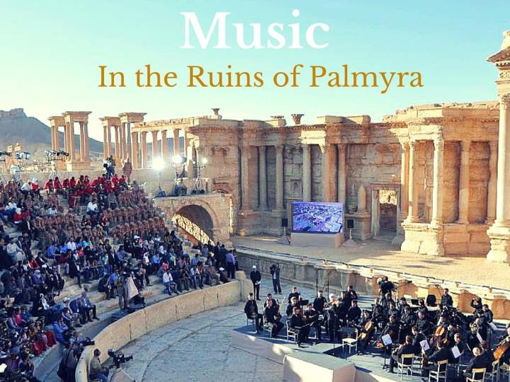 music in the vestiges of palmyra n.
