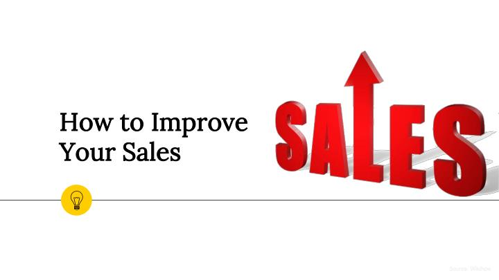 how to improve your sales n.