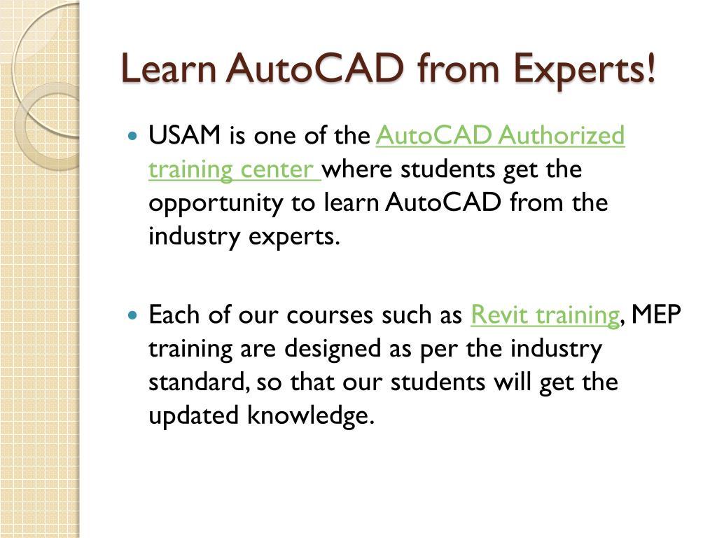 PPT - Autodesk Authorized Training Center PowerPoint Presentation