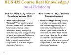 bus 435 course real knowledge bus435dotcom2