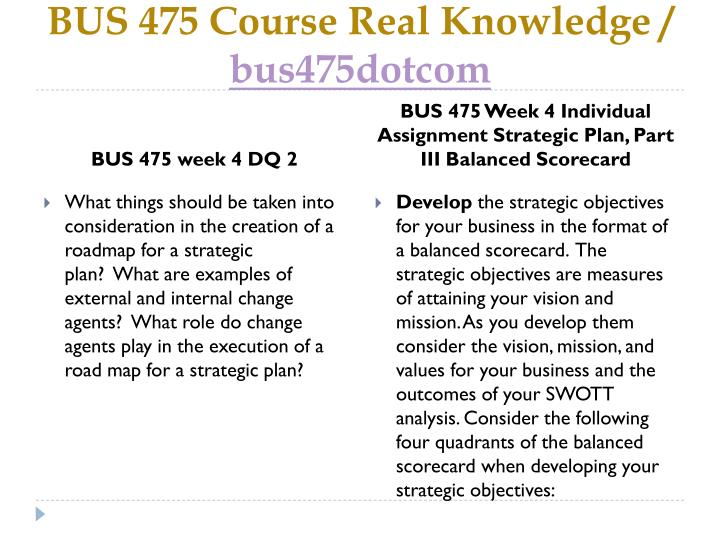 balanced scorecard bus 475