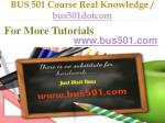 bus 501 course real knowledge bus501dotcom