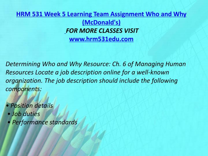 hrm 531 week 4 performance management Specialization in hrm 531 week 4 performance management plan is the main aim of transwebetutors we offer uop individual assignment help services by learned professionals best he.