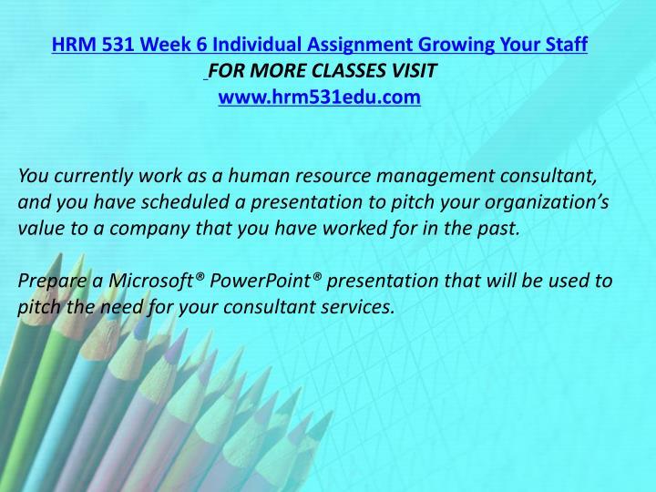 hrm 531 week 4 assignment