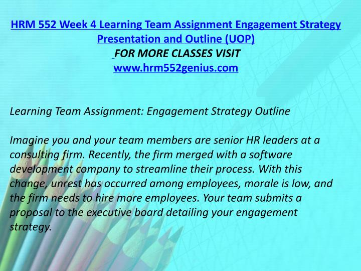 hrm 552 week 2 case study analysis For more classes visit wwwhrm552geniuscom hrm 552 week 1 travel agency hr plan hrm 552 week 2 case study analysis hrm 552 week 3 recommendation report hrm 552 week 4 engagement strategy presentation hrm 552 week 4 engagement strategy outline &ndash a free powerpoint ppt presentation (displayed as a flash slide show) on powershowcom - id: 801736-nme3m.