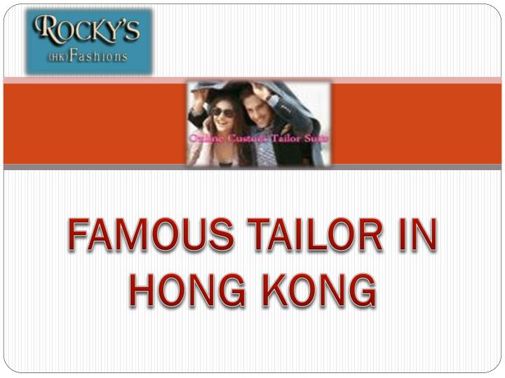 famous tailor in hong kong n.