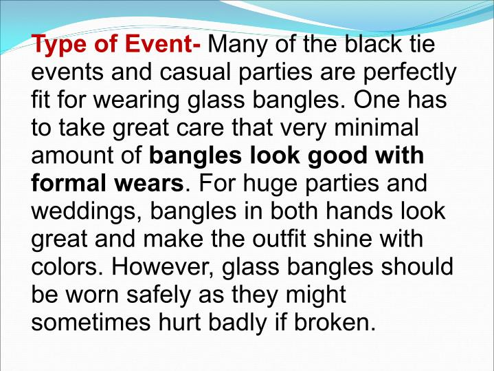 Type of Event-