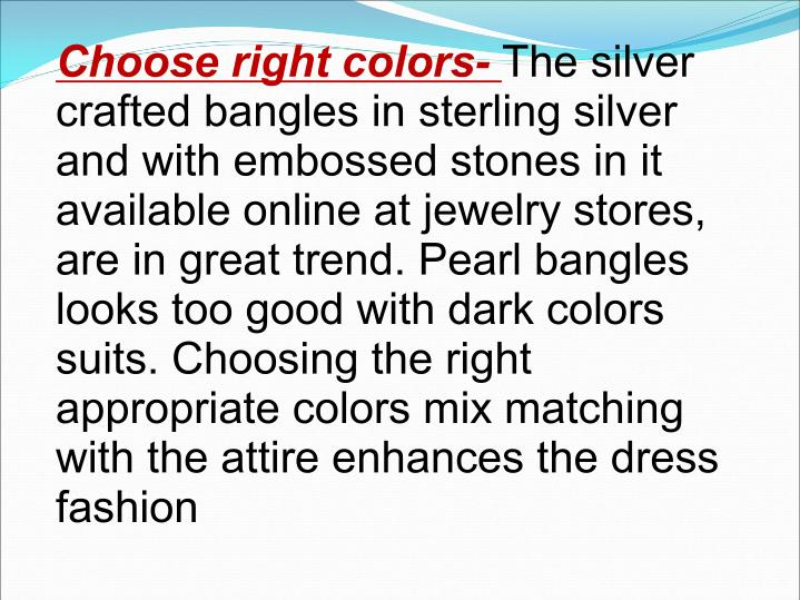 Choose right colors-