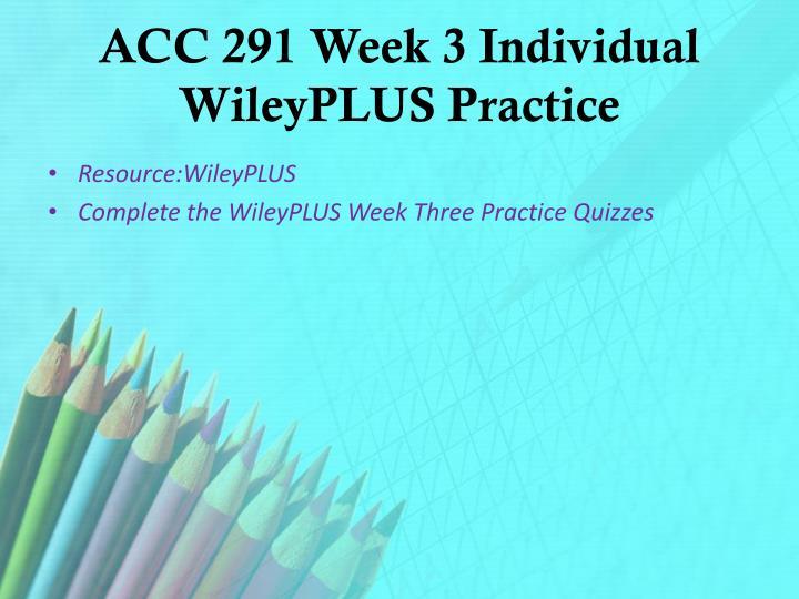 acc291 week 3 weekly reflection essay