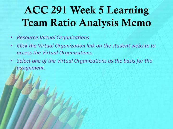 acc 291 week 5 learning team ratio analysis berry bug