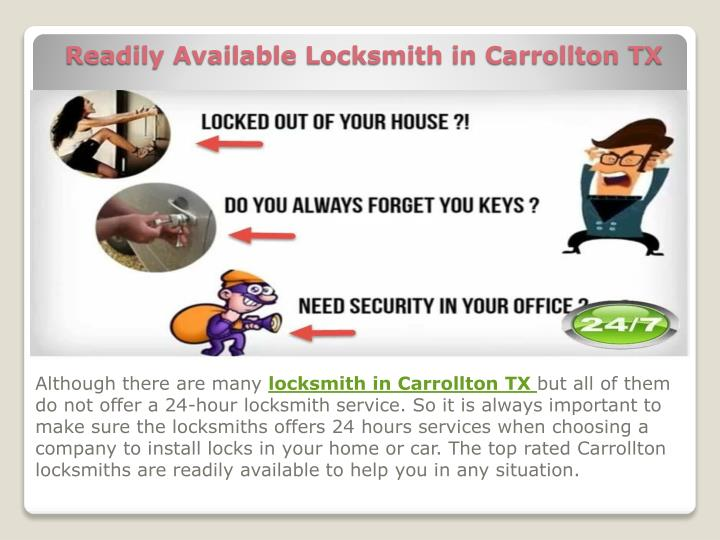 readily available locksmith in carrollton tx n.