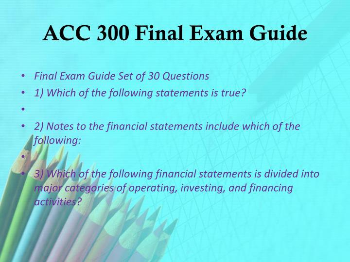 acc3320 final exam