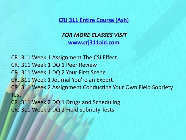 CRJ 311 Entire Course (Ash)