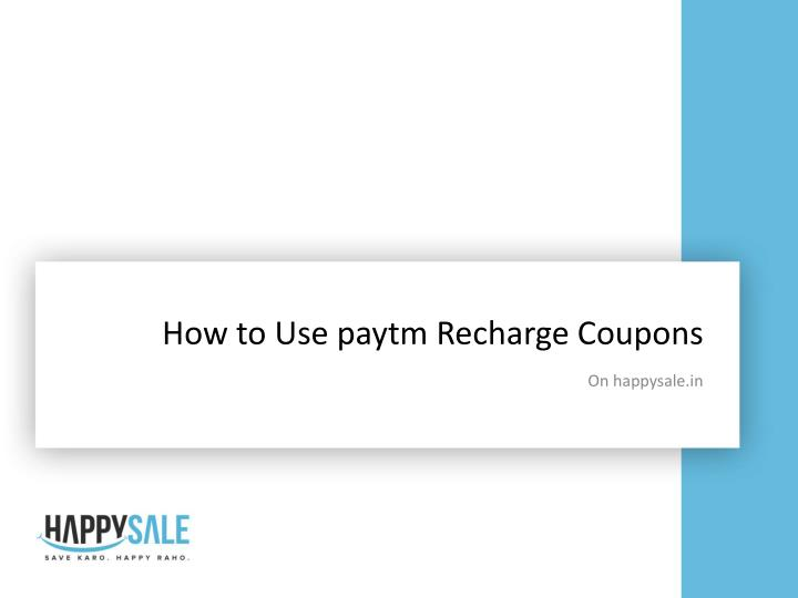 how to use paytm recharge coupons n.
