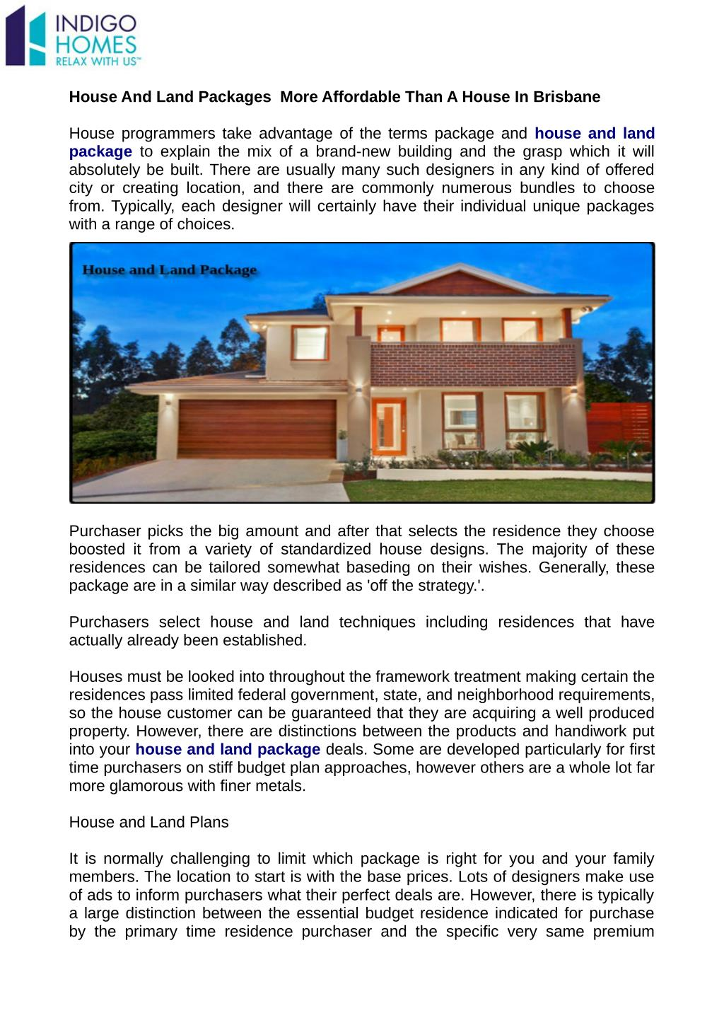 Ppt House And Land Packages More Affordable Than A House In Brisbane Powerpoint Presentation Id 7339230