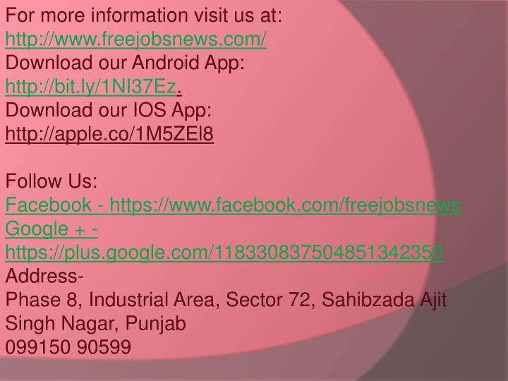 For more information visit us at: