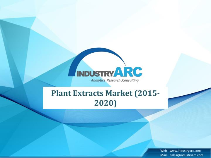 Plant Extracts Market (