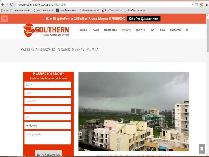 Southern cargo packers and movers in kamothe navi mumbai for tension free relocation