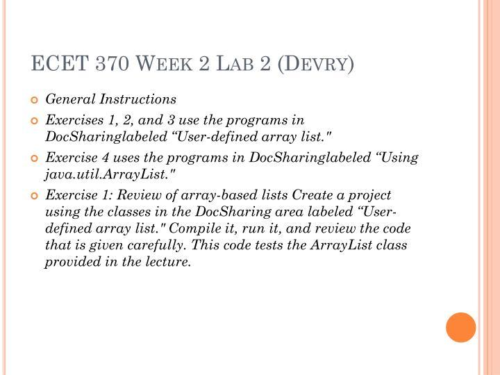 ecet 370 week 1 lab