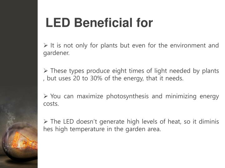 LED Beneficial for