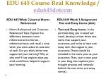 edu 645 course real knowledge edu645dotcom5