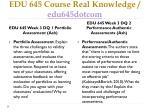 edu 645 course real knowledge edu645dotcom6