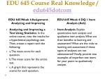 edu 645 course real knowledge edu645dotcom7