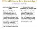edu 645 course real knowledge edu645dotcom9