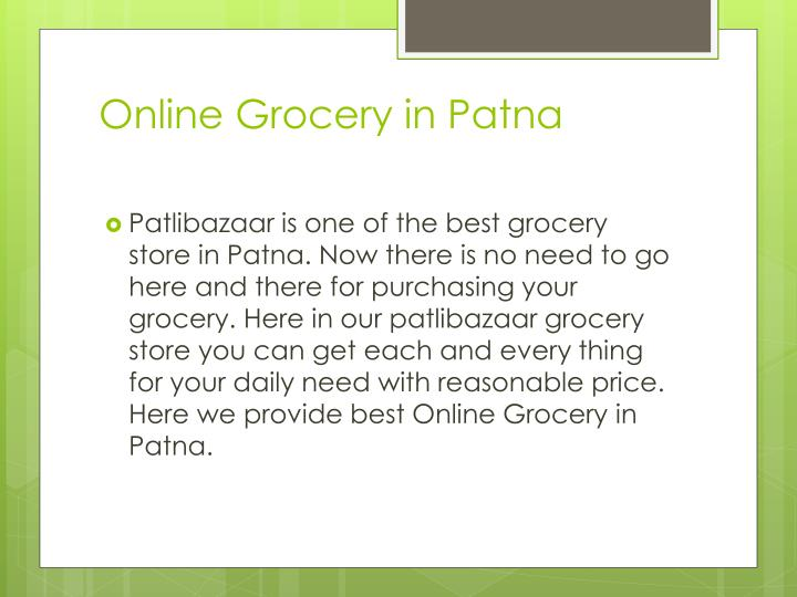 Online grocery in patna