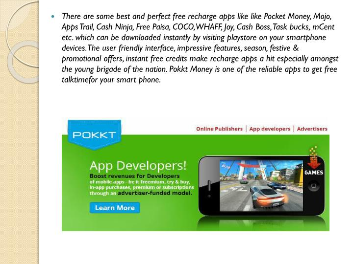 There are some best and perfect free recharge apps like