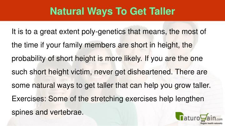 Natural Ways To Get Taller