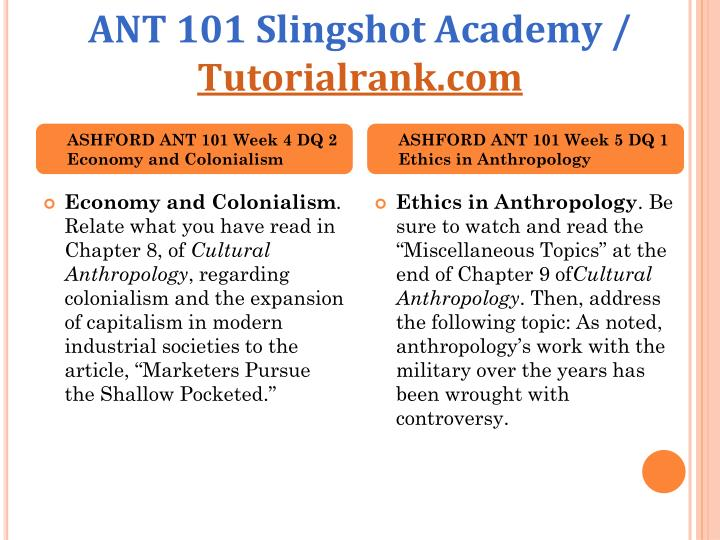 ANT 101 Slingshot Academy /