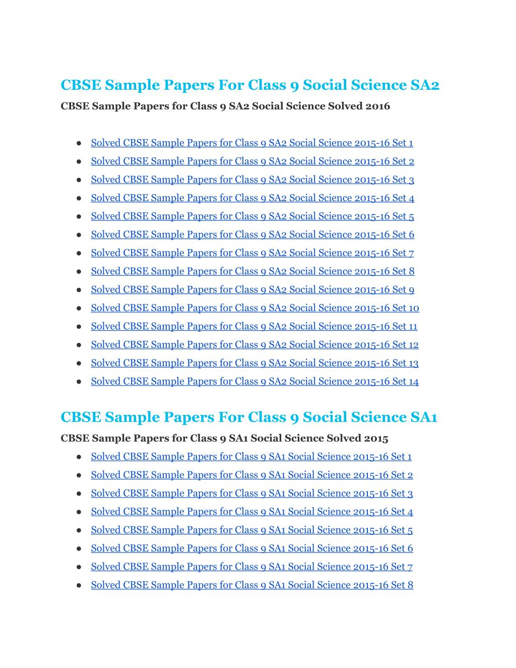 PPT - CBSE-Sample-Papers-For-Class9-Social-Science PowerPoint