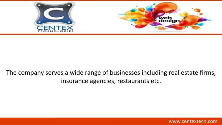 The company serves a wide range of businesses including real estate firms,