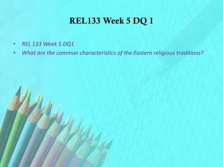 common characteristics of the eastern religious traditions