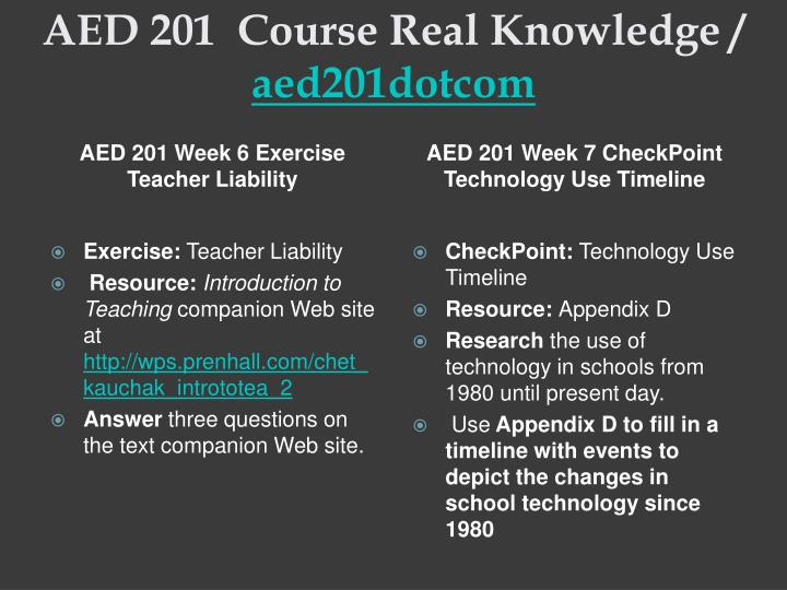 aed 201 technology timeline
