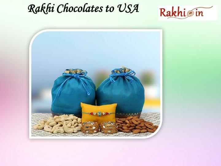 Rakhi chocolates to usa