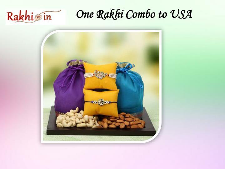 One Rakhi Combo to USA