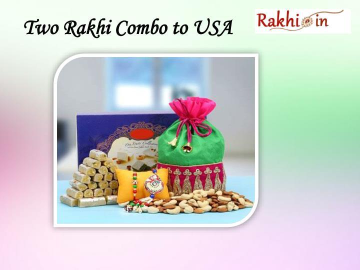 Two Rakhi Combo to USA