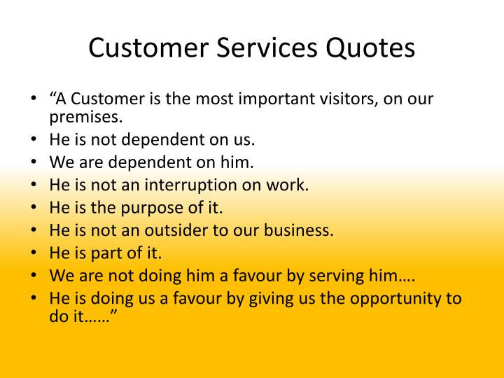 Customer Services Quotes
