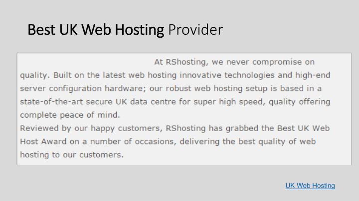 Best uk web hosting provider