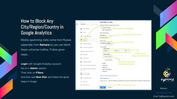 How to Block Any City/Region/Country in Google Analytics