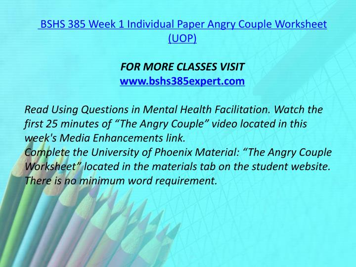 angry couple bshs 385 Flipsnack is a digital catalog maker that makes it easy to create, publish and share html5 flipbooks upload a pdf or design from scratch flyers, magazines, books and more author: 95b9cdebdc9, catalog: bshs 385 week 5 individual paper characteristics of interviewing, published: nov 21, 2015.