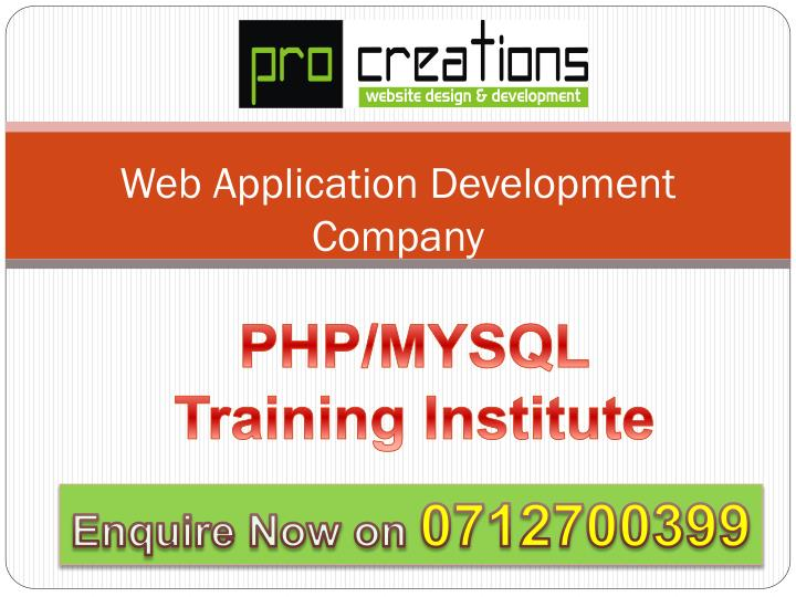 web application development company n.