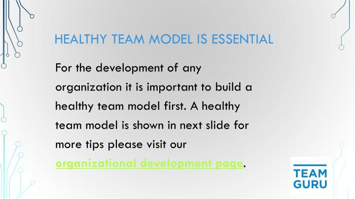 Healthy Team Model is Essential